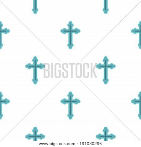 Christian cross pattern seamless flat style for web vector illustration