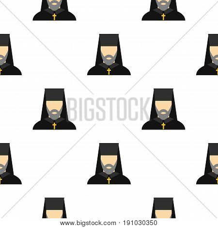 Orthodox priest pattern seamless flat style for web vector illustration