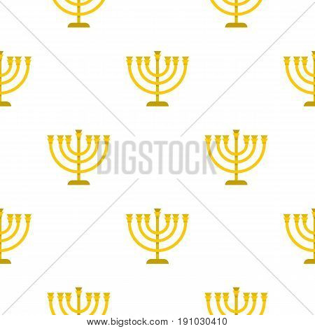 Jewish Menorah with candles pattern seamless flat style for web vector illustration