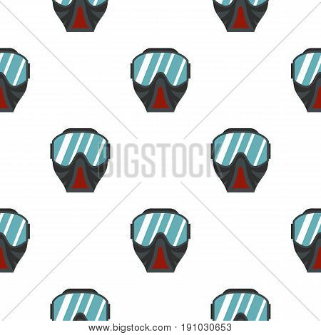 Paintball mask pattern seamless flat style for web vector illustration