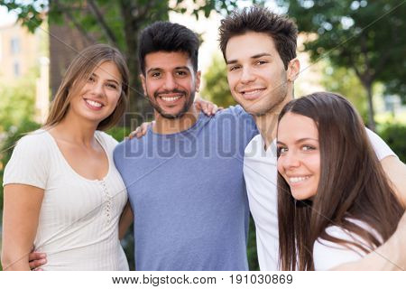 Group of close friends together