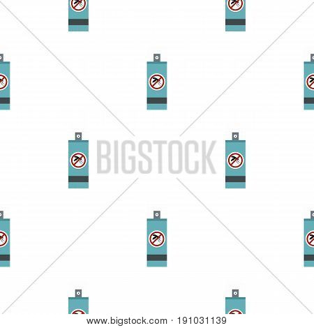 Mosquito repellent spray pattern seamless flat style for web vector illustration