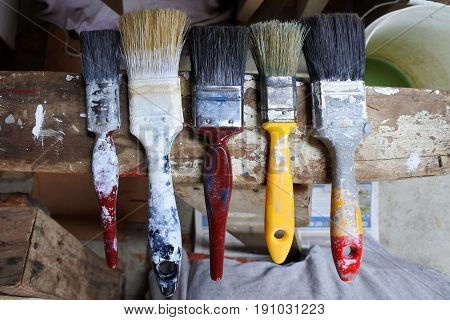 Five Paintbrushes