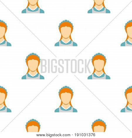 Hotel maid pattern seamless flat style for web vector illustration
