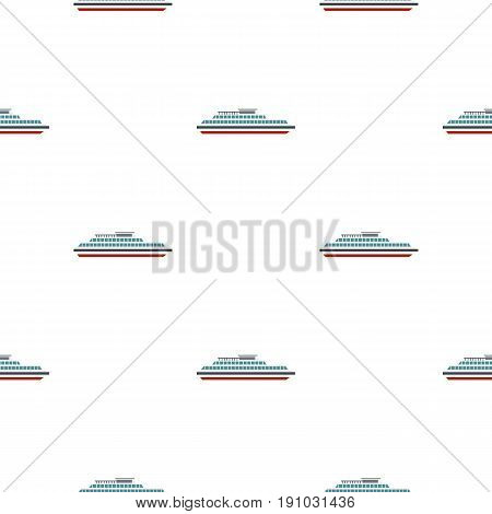 Steamship pattern seamless flat style for web vector illustration