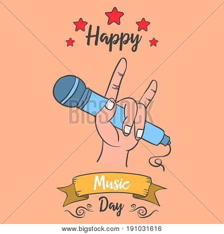 Collection stock of music day card vector art