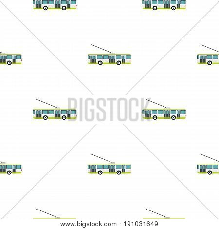 Trolley bus pattern seamless flat style for web vector illustration