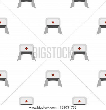 Earflaps pattern seamless flat style for web vector illustration