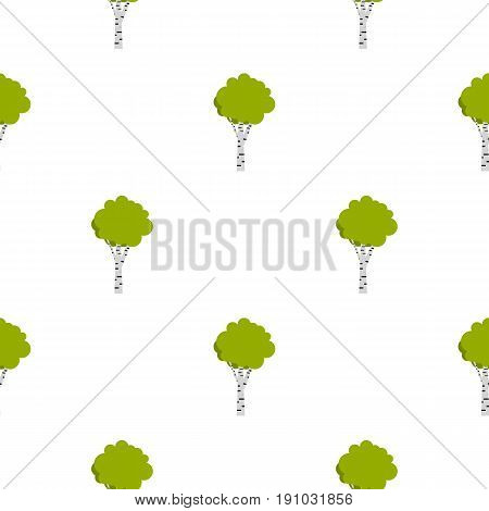 Birch pattern seamless flat style for web vector illustration