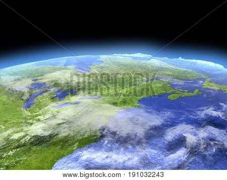East Coast Of Canada From Space