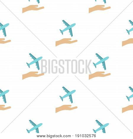 Plane logo. Flat illustration of plane vector logo for web