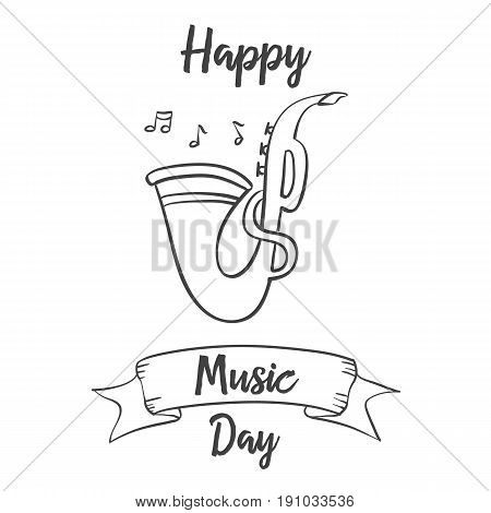 Collection stock music day celebration vector art