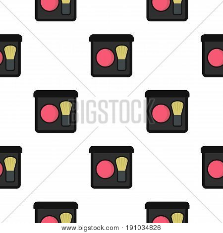 Blush pattern seamless flat style for web vector illustration