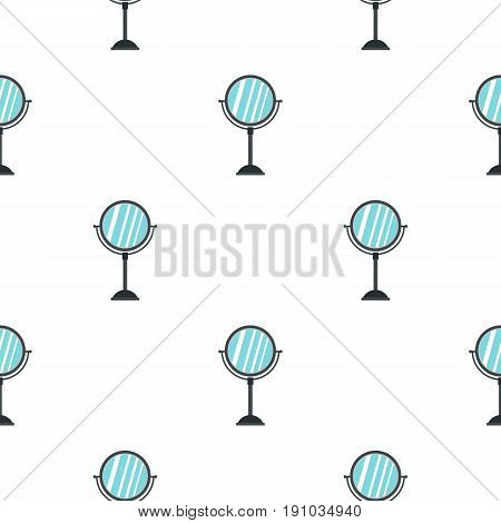 Round mirror pattern seamless flat style for web vector illustration