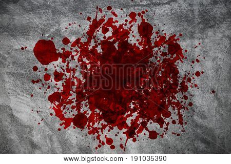 Blood On The Wall, Halloween Bloody Murder Or Death Crime Killer Violation Concept.