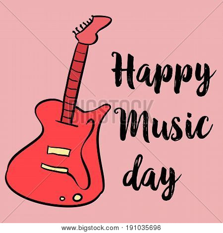 Card for world music day vector art collection stock
