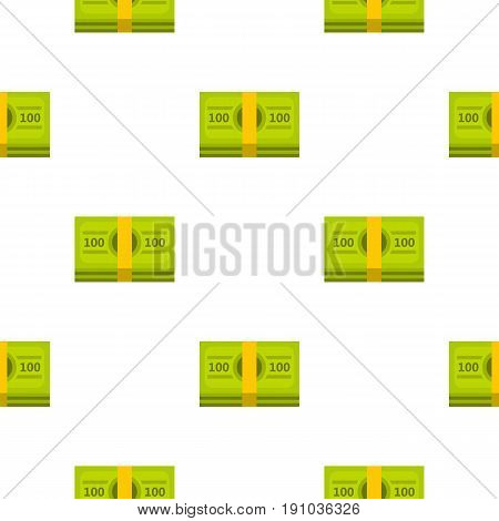 Bundle of money pattern seamless flat style for web vector illustration