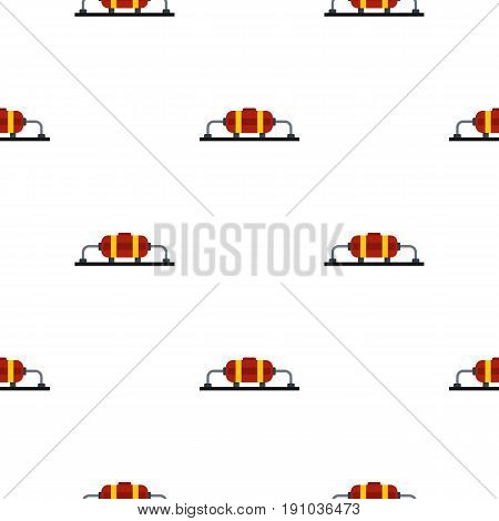 Oil production pattern seamless flat style for web vector illustration