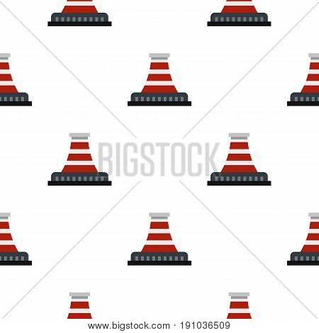 Refinery with pipe pattern seamless flat style for web vector illustration