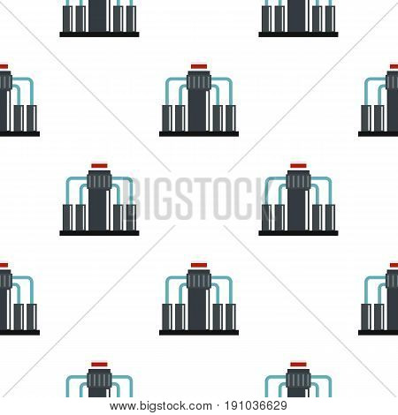 Oil refining pattern seamless flat style for web vector illustration
