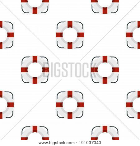 Lifeline pattern seamless flat style for web vector illustration