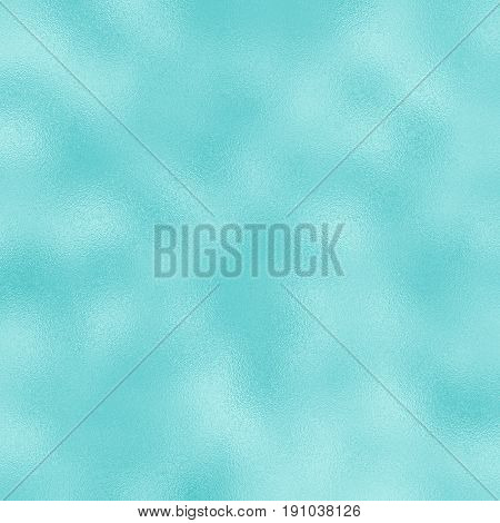 Colored foil raster texture for festive background. Blue foil pattern tile. Aqua blue gradient. Glass frosted texture swatch