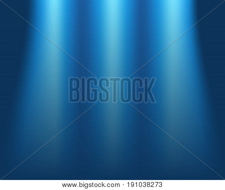 Blurred blue background concept of light on stage abstract blur vector