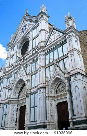 Ancient cathidral Basilica Santa Croce in Florence, Italy