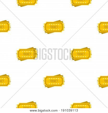 Ticket pattern seamless flat style for web vector illustration