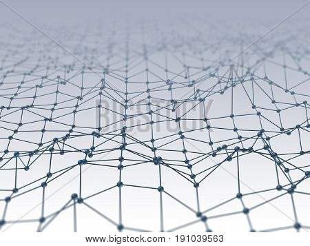 Abstract Polygonal Space Low Polygon Connection Dots And Lines Structure.