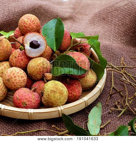 Close Up Of Litchi Fruit