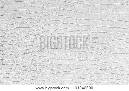 The white leatherette texture for background .