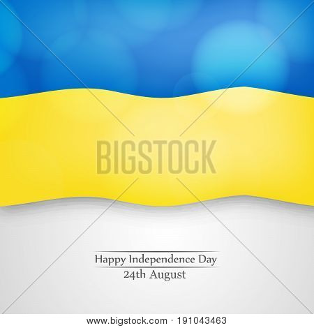 illustration of Ukraine Flag with Happy Independence Day 24th August text on the occasion of Ukraine Independence day