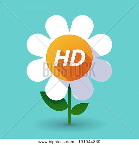 Long Shadow Flower With    The Text Hd