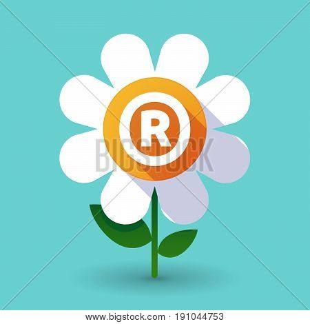 Long Shadow Flower With    The Registered Trademark Symbol