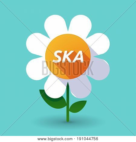 Long Shadow Flower With    The Text Ska