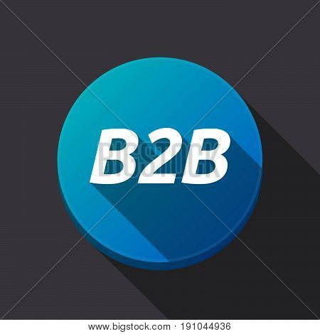 Long Shadow Round Buttonwith    The Text B2B