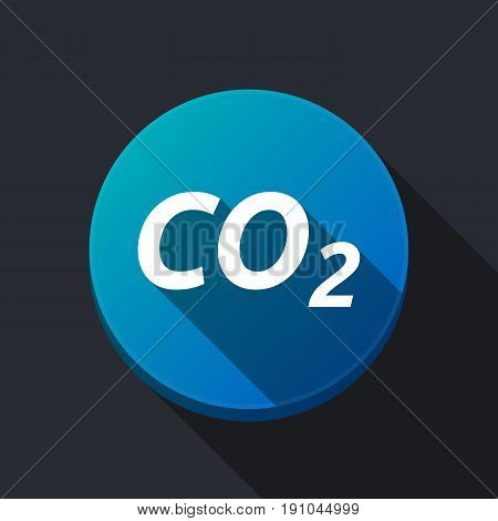 Long Shadow Round Buttonwith    The Text Co2