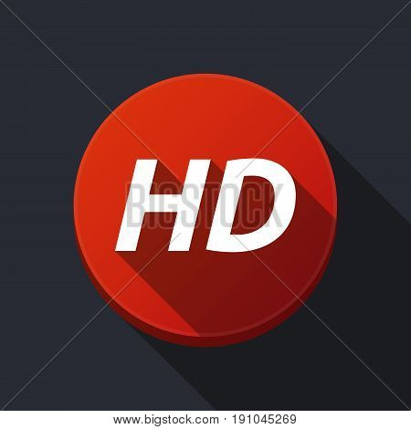 Long Shadow Round Buttonwith    The Text Hd