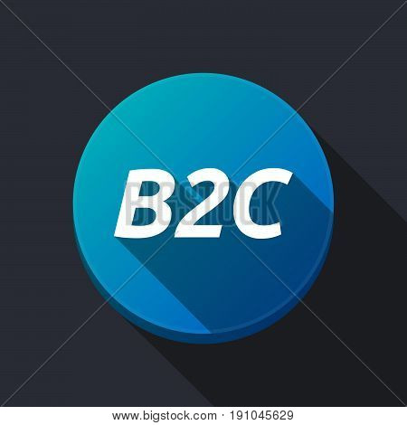 Long Shadow Round Buttonwith    The Text B2C