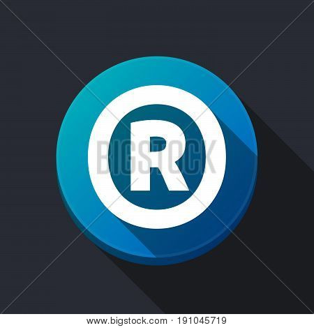 Long Shadow Round Buttonwith    The Registered Trademark Symbol