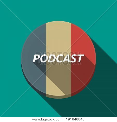 Long Shadow  Round Button With    The Text Podcast