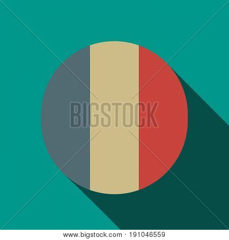 Long Shadow  Round Button With    The Text Maybe