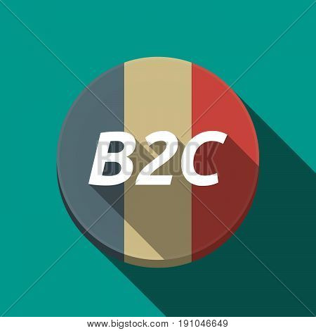 Long Shadow  Round Button With    The Text B2C