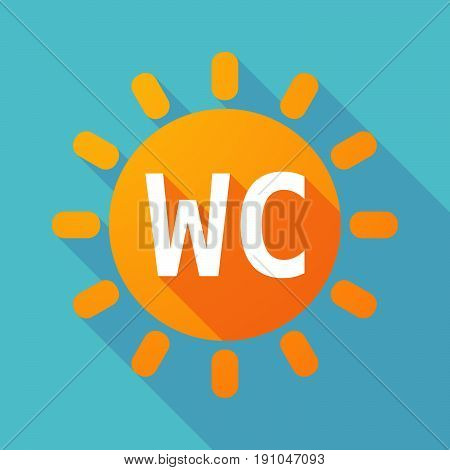 Long Shadow Sun With    The Text Wc