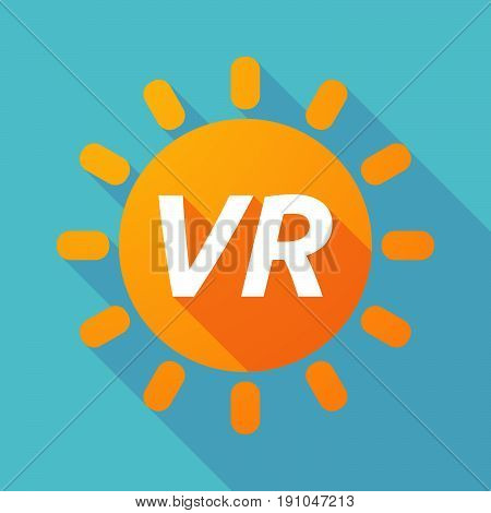 Long Shadow Sun With    The Virtual Reality Acronym Vr