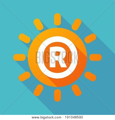 Long Shadow Sun With    The Registered Trademark Symbol