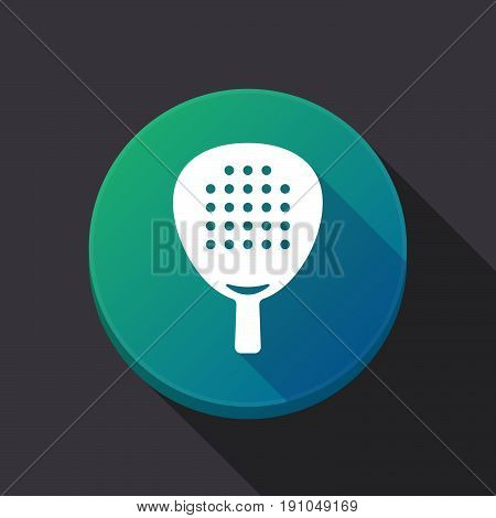 Long Shadow Button With  A Paddle Racket