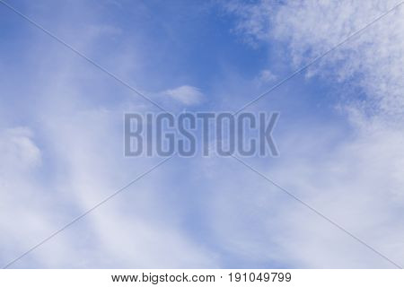 The Clouds With Blue Sky Background.