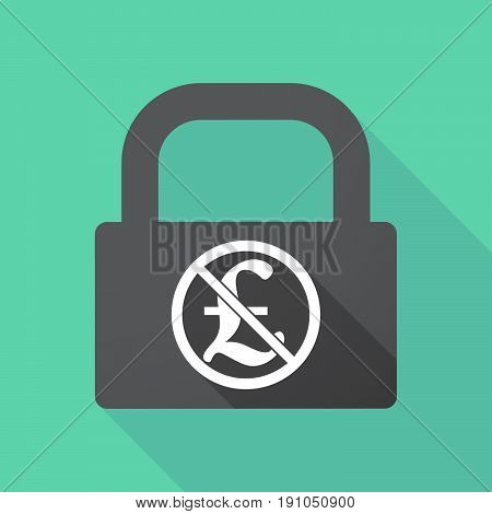 Long Shadow Lock With  A Pound Sign  In A Not Allowed Signal